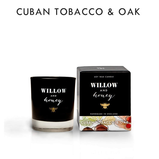 Willow and Honey Soy Candle Cuban Tobacco & Oak 60g