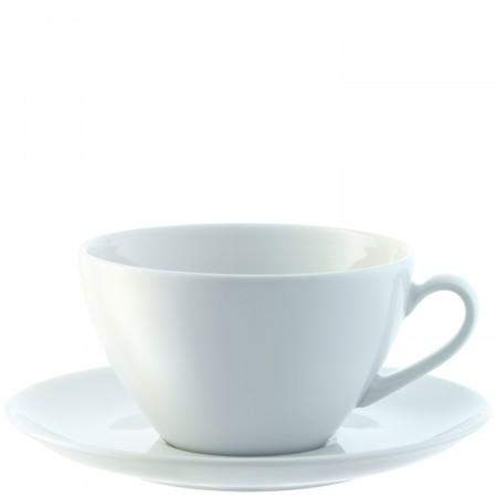 LSA Dine Cappuccino Cup & Saucer - Curved - Set of 4