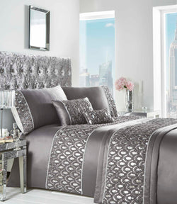 Crystal Duvet Set Single Charcoal