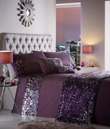 Dazzle Duvet Set Single Amethyst
