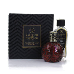 Ashleigh & Burwood Fragrance Lamp Gift Set - Rose Bud & Fresh Linen