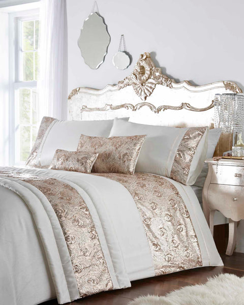 Krista Duvet Set King Rose Gold Set