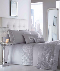 Shimmer Quilted Runner Silver