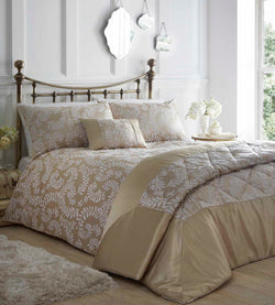 Zahara Duvet Set Double Oyster
