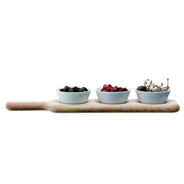 LSA International Paddle Bowl Set & Oak Paddle - 40cm