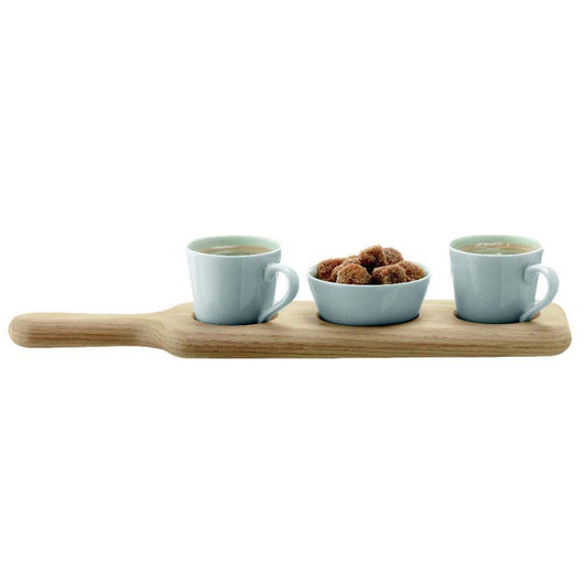 LSA International Paddle Duo Espresso Set & Oak Paddle L36cm [Kitchen & Home]