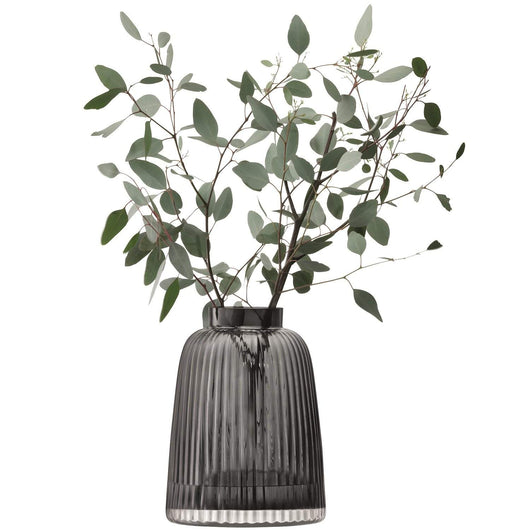 LSA International Pleat Vase H26cm Grey