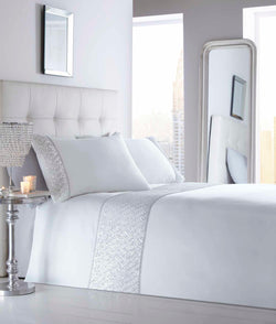 Shimmer Duvet Set Double White