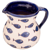 Signature Blue and White Fish Large Jug - Blue Fish