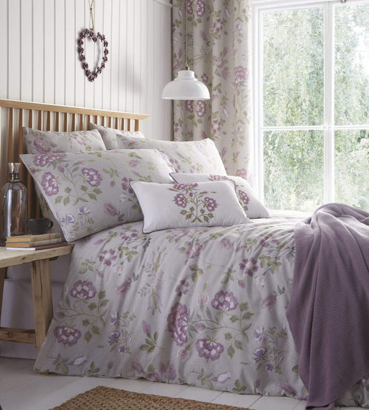 Secret Garden Duvet Set Super King Lavender