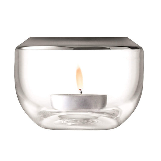 LSA International Space Tealight Holder H6.5cm Platinum