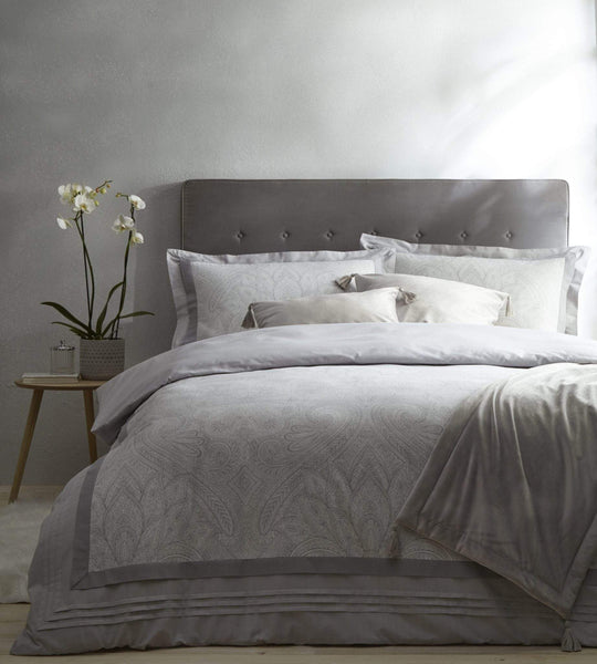 Tatton Duvet Set King Silver Grey