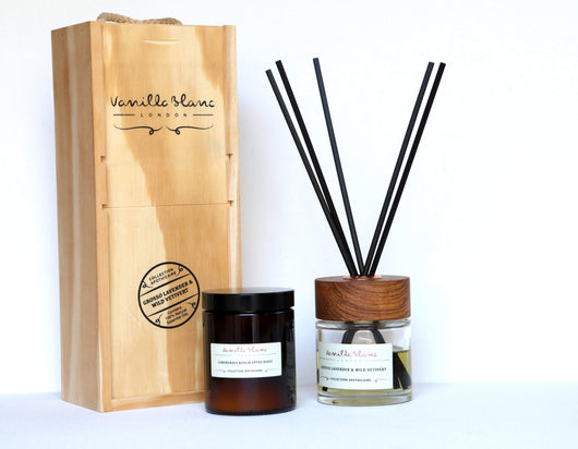 Vanilla Blanc Apothicaire Diffuser Gift Set - Grosso Lavender