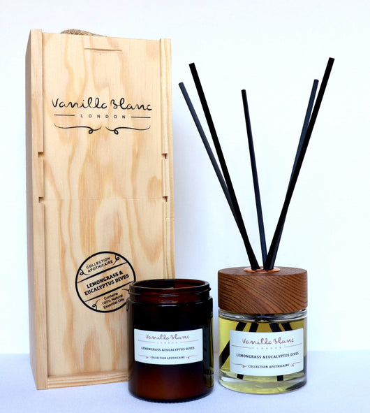 Vanilla Blanc Apothicaire Diffuser Gift Set - Lemongrass