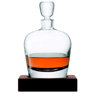 LSA Whisky Arran Decanter and Walnut Base