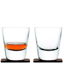 LSA Whisky Arran Tumblers and Walnut Coasters