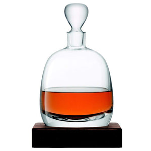 LSA Whisky Islay Decanter and Walnut Base