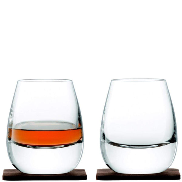 LSA Whisky Islay Tumblers and Walnut Coasters
