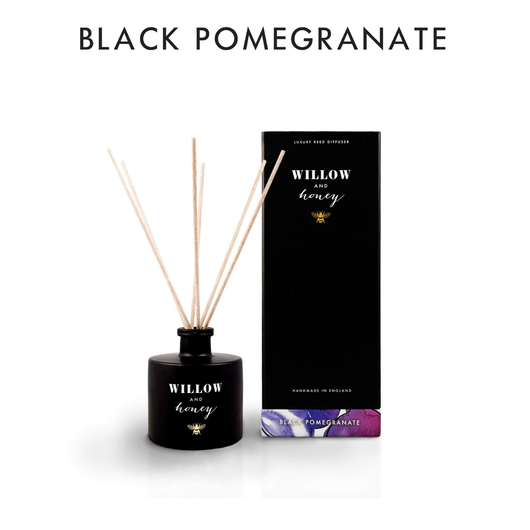 Willow and Honey Luxury Reed Diffuser Black Pomegranate 200ml