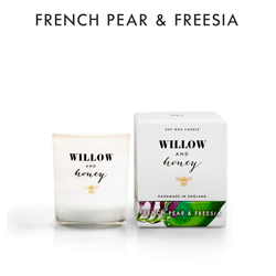 Willow and Honey Soy Candle French Pear & Freesia 60g