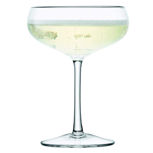 LSA Wine Champagne Saucer - 215ml - clear - Set of 4