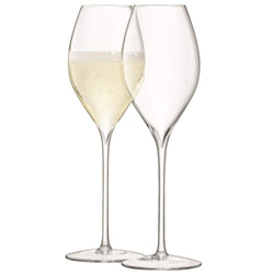LSA International Wine Champagne Tulip Glass 370ml Clear x 2