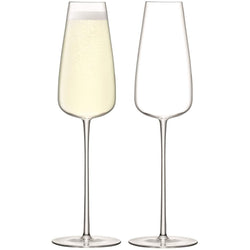 LSA International Wine Culture Champagne Flute 330ml Clear x 2