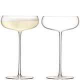 LSA International Wine Culture Champagne Saucer 320ml Clear x 2