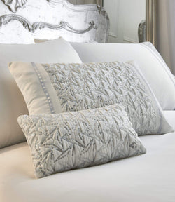 Zenia Cushion (18cm x 32cm) White