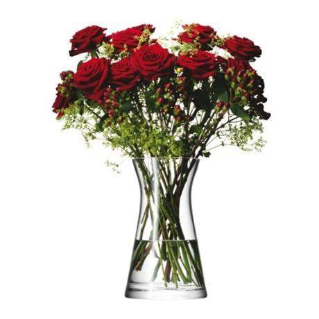 LSA Flower Mixed Bouquet 29cm Vase - Clear