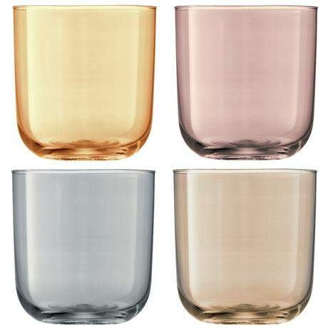 LSA Polka Tumbler Glasses - Metallics Assorted - Set of 4