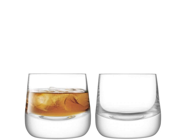 LSA International Bar Culture Whisky Glass 220ml Clear x 2