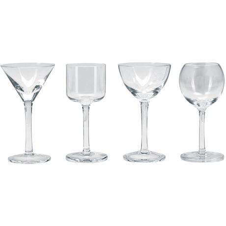 LSA Lulu Liqueur Glass - Assorted shapes - Clear - Set of 4