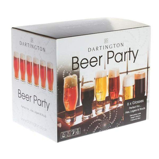 Dartington Crystal Party Pack Set of Six Beer Glasses