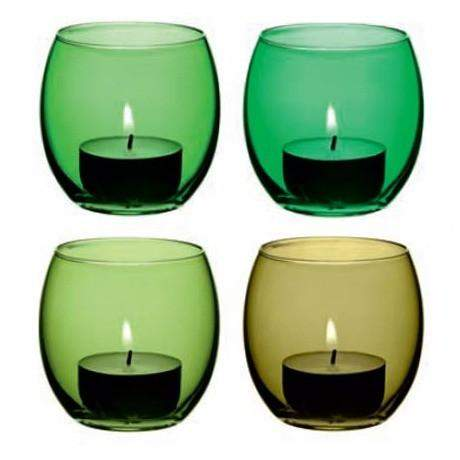 LSA Coro Tealight Holder - Leaf Assorted - Set of 4