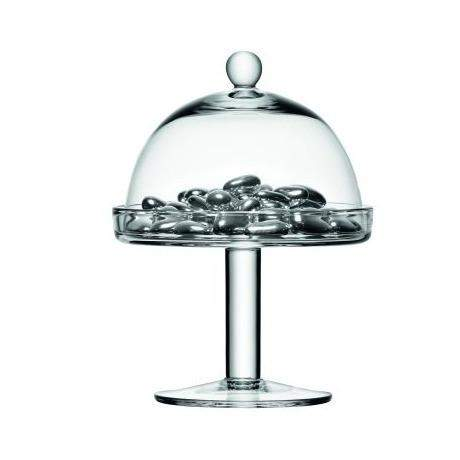 LSA Vienna CakeStand & Dome - 11cm Stand with 14.5cm Plate