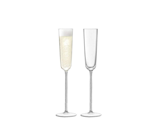 LSA International Champagne Theatre Champagne Flute 120ml Braid/Clear x 2