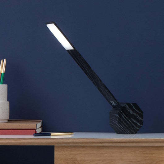 Gingko Octagon One Desk Lamp Black
