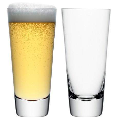 LSA Madrid Lager Glass 600ml - Clear - Pair