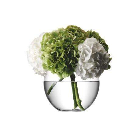 LSA Flower Round Bouquet 22cm Vase - Clear