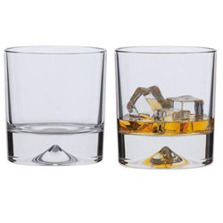 Dartington Dimple - Double Old Fashioned Glasses - Pair