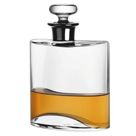 LSA Flask Decanter - Clear/Platinum neck