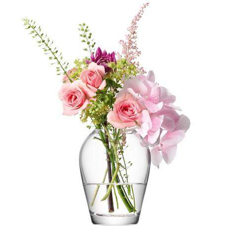 LSA Flower Mini Bouquet Vase 9.5cm - Clear