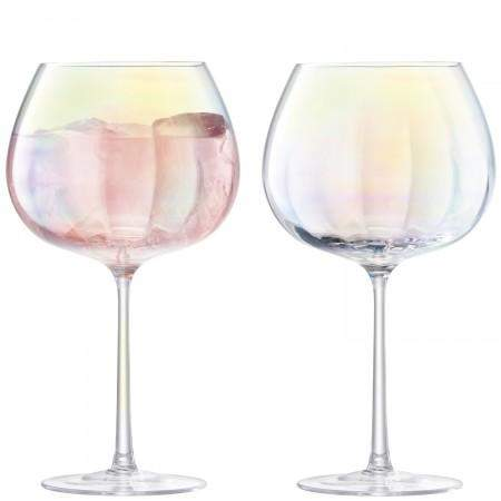 LSA International Pearl Balloon Goblet 650ml Mother of Pearl x2