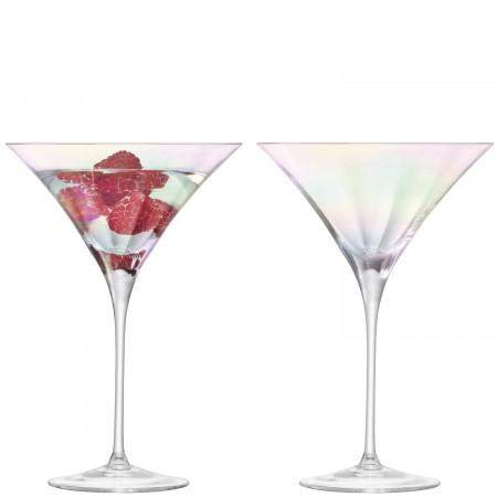 LSA International Pearl Cocktail Glass 300ml Mother of Pearl x2