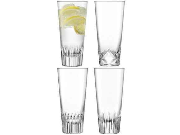 LSA International Tatra Mixer Glass 315ml Clear / Assorted Set of 4