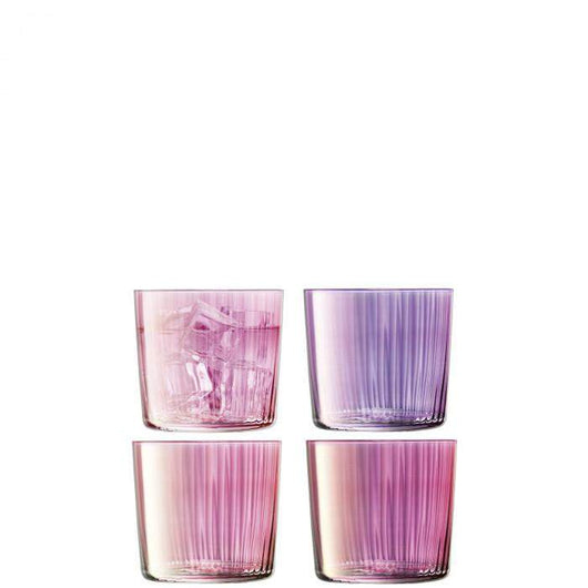 LSA International Gems Tumbler 310ml Assorted Garnet x 4