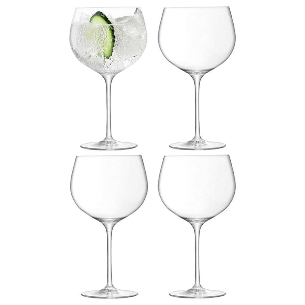 LSA International Balloon Gin Balloon Glass 680ml Clear x 4