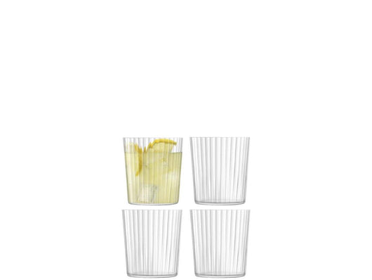 LSA International Gio Line Tumbler 390ml Clear x 4