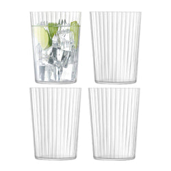 LSA International Gio Line Tumbler 560ml Clear x 4